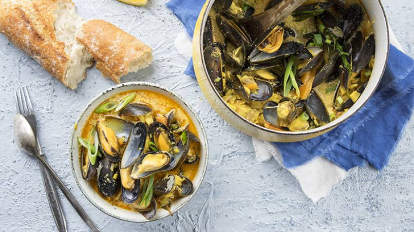 Mejillones con curry