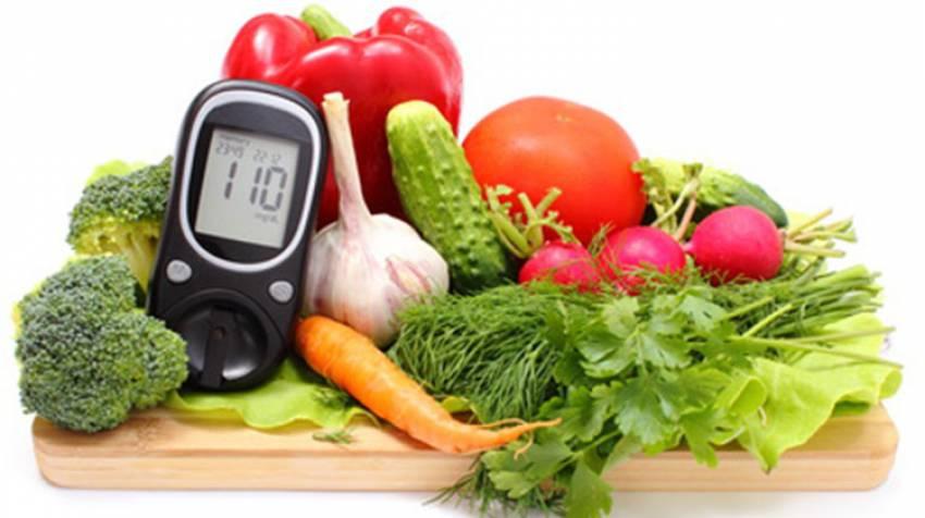 Un para regimen diabetico alimenticio