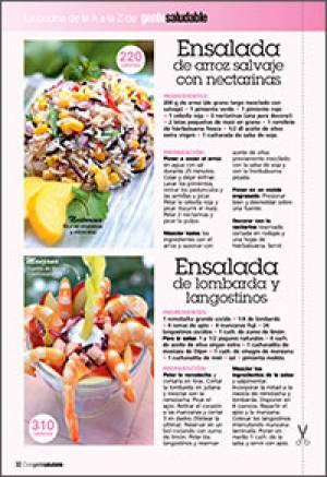 Ensalada de arroz salvaje con nectarinas