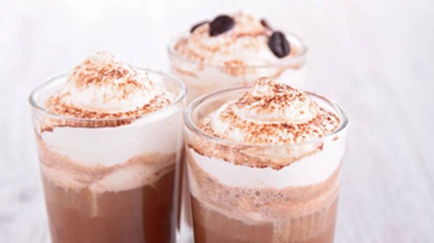 Vaso de café a la crema