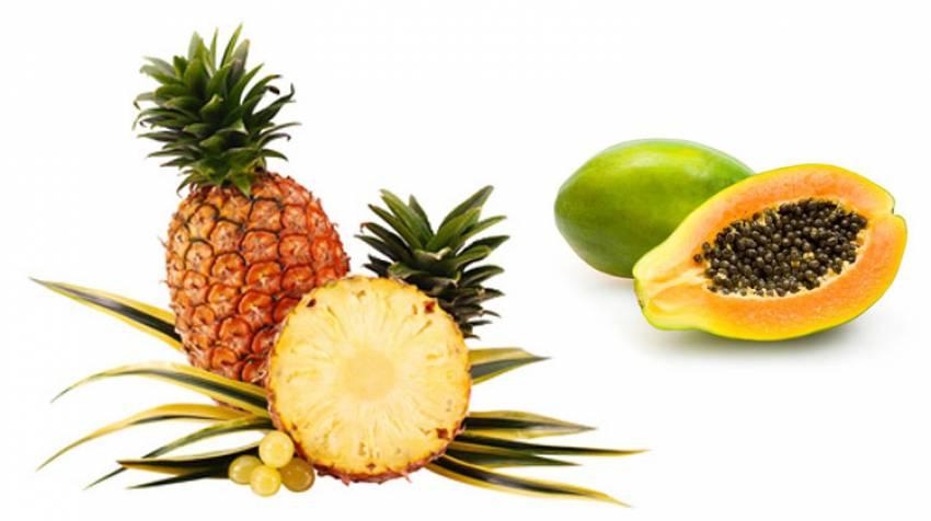 Dieta de pina y papaya